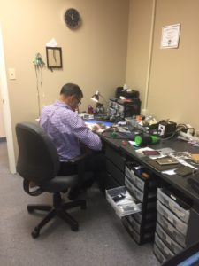 mike repairing a phone